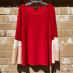 Beautiful red Alfani blouse with great sleeves
